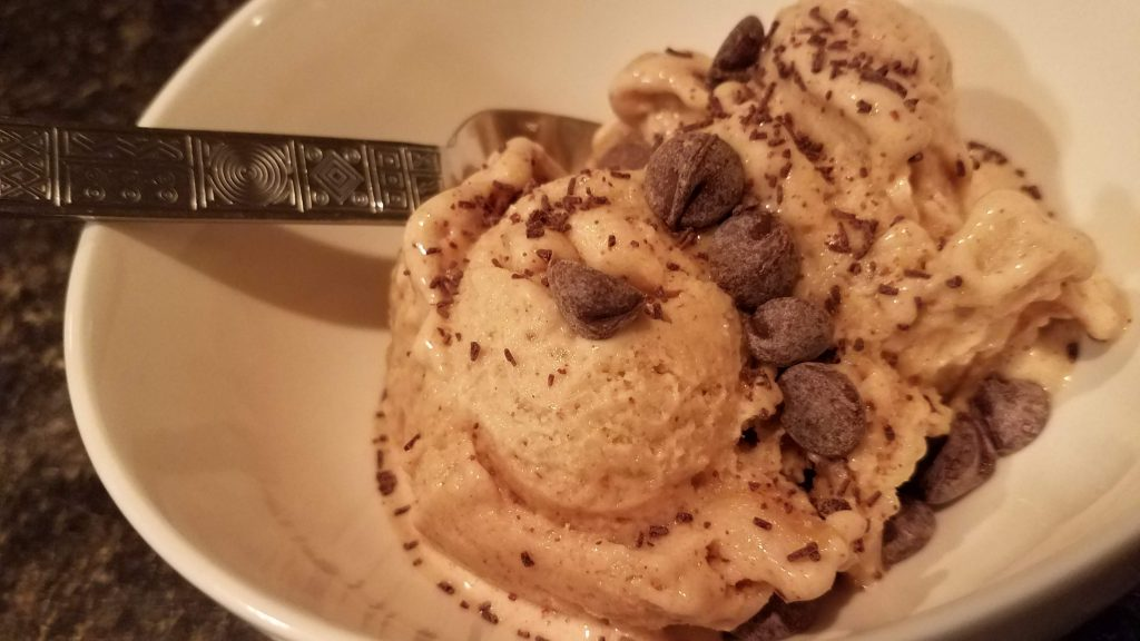 banana ice cream with chocolate chips