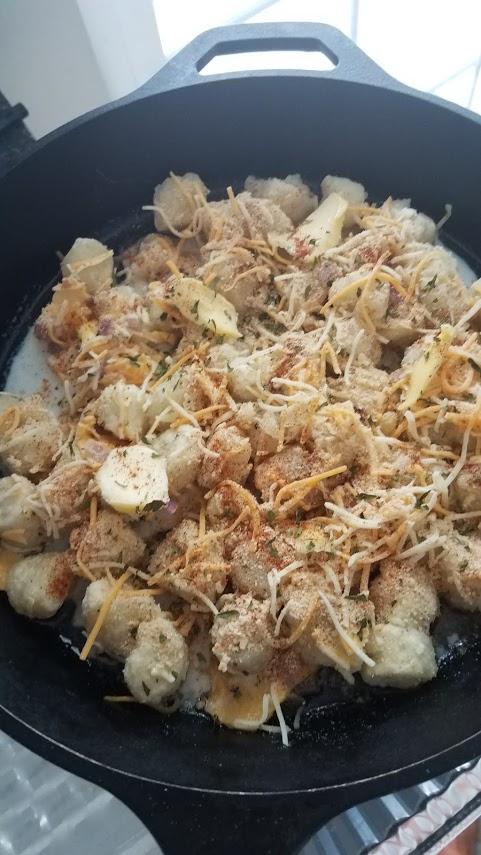 Cauliflower Gnocchi Mac and Cheese- before cooking
